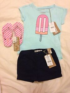 Cotton on Kids new shorts, top and thongs South Wentworthville Parramatta Area Preview