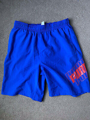 BOYS BLUE PUMA SHORTS UK 30 USED