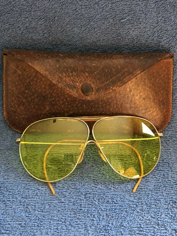 Vintage AO American Optical Fulvue 1/10 12K GF Yellow Sunglasses