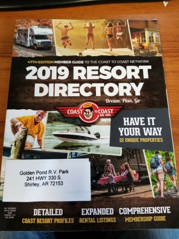 Coast To Coast Deluxe Membership No Annual Home Park Fees! RPI  included!