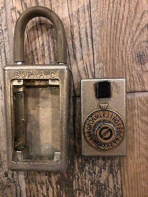 Vintage Supra-c Realtor Lock Box Padlock Combination Hide A Key For Door