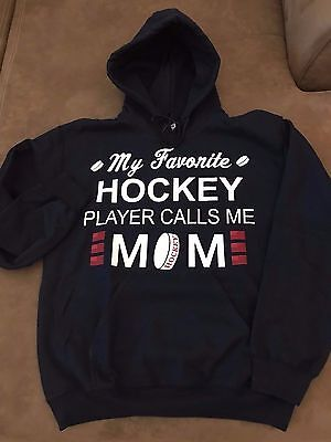 My Favorite Hockey Player Calls Me Mom - Gildan Hooded Pullover -