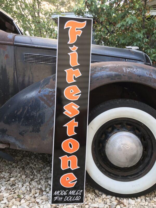"""Antique Vintage Old Style Firestone Sign Vintage Look 48"""""""