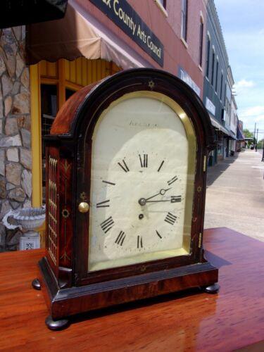 Grand English Mahogany Bracket Clock 18th Century