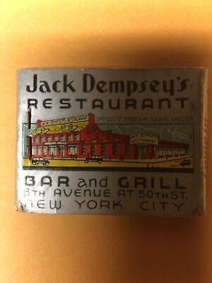 Vintage Jack Dempsey's Restaurant Matchbook for sale  Schenectady