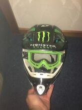 Motorbike helmet and goggles Miandetta Devonport Area Preview