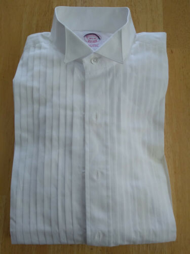 NWOT Brooks Brothers White Formal Wing Collar Shirt 14.5-32 Traditional MSRP$135