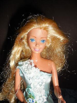 BARBIE 1966 BODY  BLONDE HAIR BLUE EYES IN PARTY DRESS TNT  EUC 11