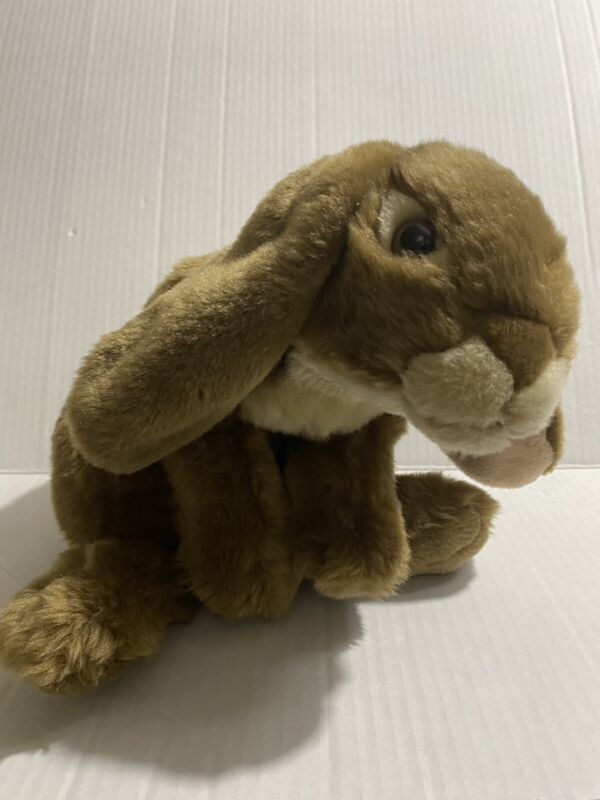 """Toys R Us Animal Alley Lop Eared Bunny Rabbit Plush Brown Realistic 14"""""""