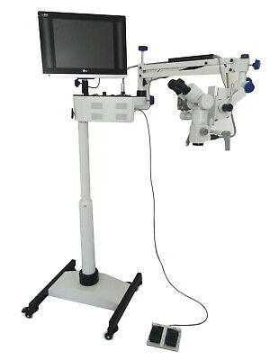 Digtial Ophthalmic Surgical Microscope 3 Step 90 Degree With Hd Camera Led Tv