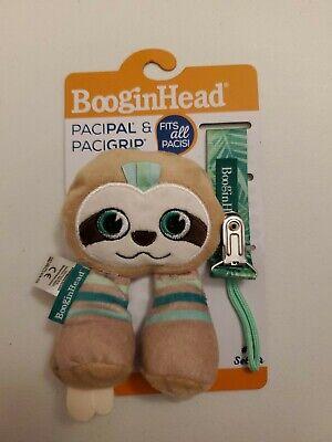 NEW! BooginHead Baby Newborn PaciPal PaciGrip Pacifier Clip Sloth (2 Piece Set)