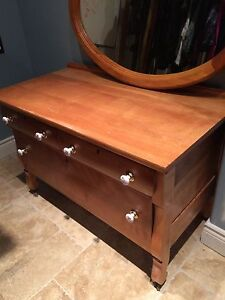 Professionally Refinished Antique Dresser
