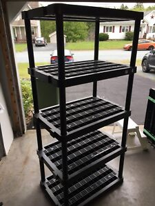 Collapsable shelving for garage/shed/storage