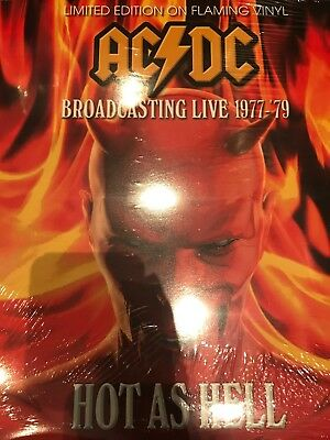 AC/DC - Hot As Hell Broadcasting Live 1977-79 LTD EDITION FLAMING VINYL LP