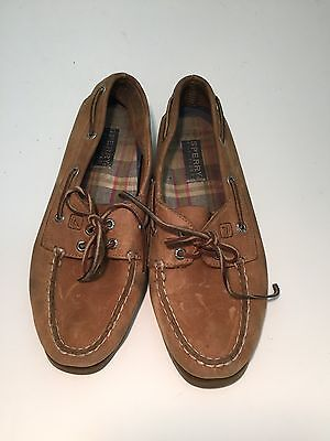 Sperry Top Sider Women's Ladies Leather Tan Brown Boat Shoes Classic Size 8.5 M