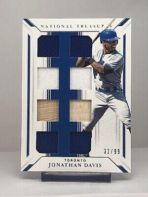 2019 National Treasures Baseball JONATHAN DAVIS Game Gear Material Eight  32/99
