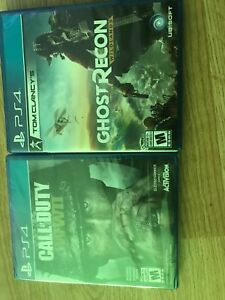 Call of duty WWII BRAND NEW Ghost recon very great condition