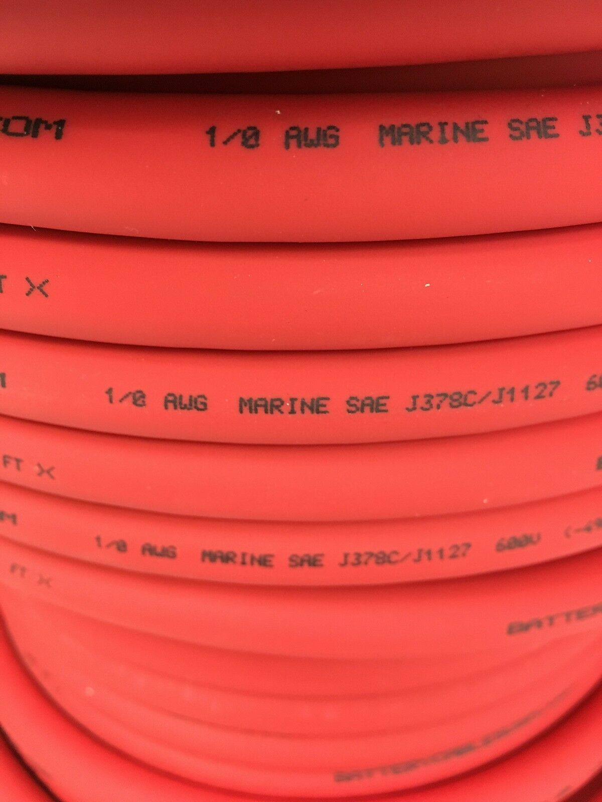 1/0 AWG 0 Gauge Battery Cable Red Premium Pure Copper Power Wire ...