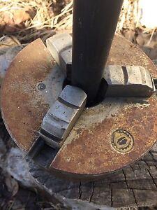 "Bison 3 jaw lathe chuck, for Atlas, Craftsman 12"" welding"