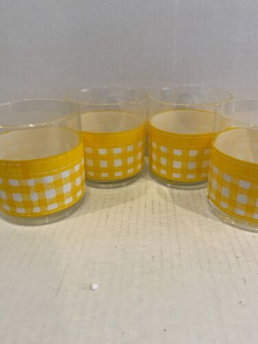 Georges Briard Yellow Checkered Glasses 4