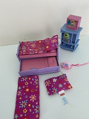Fisher Price Loving Family Dollhouse Lot TRUNDLE BED PILLOWS KARAOKE CD STEREO