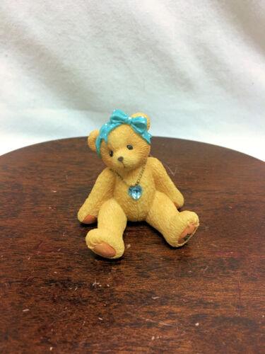 Cherished Teddies Little Sparkles March Bear  2003 NIB