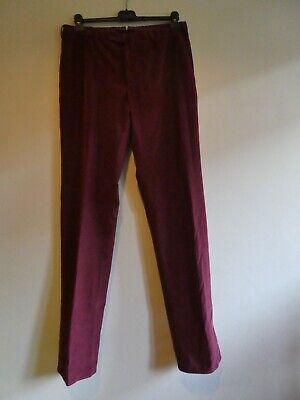 Incotex Burgundy Slim-Fit Cotton Corduroy Chino Trousers IT50 (UK34)