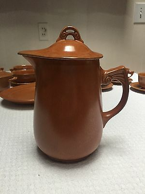 Vintage Homer Laughlin Wells Art Glazes Rust Large Batter Pitcher