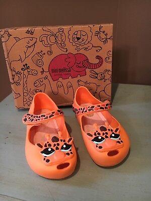 Nib Mini Melissa Sz 7 Ultragirl Iv Giraffe Orange