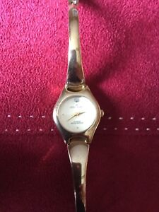 Ann Klein Yellow Gold Coloured Bracelet Watch