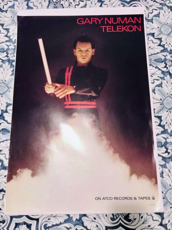 Vintage Gary Numan Poster Telekon Rare Piece!!