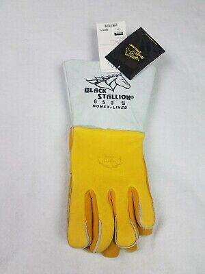 Black Stallion 850 Premium Grain Elkskin Stick Welding Gloves Small