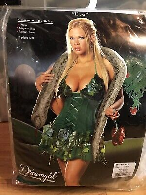 WOMEN'S SEXY (ADAM &) EVE ADULT COSTUME, SIZE: SMALL, MSRP: $79.99 (Adam Eve Costume)