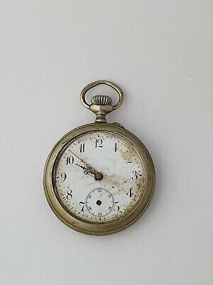 Nickel pocket watch watchmaker spares repair..