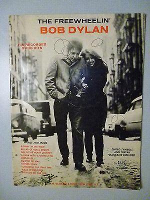 FREEWHEELIN' BOB DYLAN 1963 Songbook 10 songs Sheet Music Blowin' In The (Blowin In The Wind Piano Sheet Music)