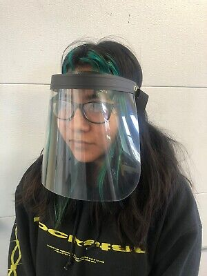 SAFETY FACE SHIELD WITH CLEAR FLIP-UP VISOR FOR MEDICAL, SERVICE OR COMMERCIAL U