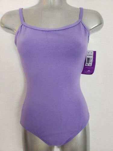 Motionwear Adult Medium Periwinkle Camisole V Back Cotton Blend Leotard NWT 2515