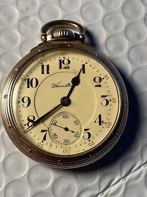 Hamilton 992 Pocket Watch, Gold Filled Case