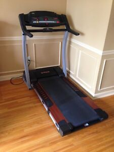 Treadmill, digital display, folds up, works great, can deliver