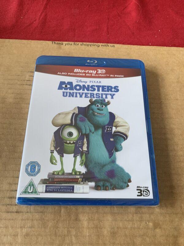 MONSTERS+UNIVERSITY+BLU+RAY+3D+%26+2D+NEW+%26+SEALED+Disney+Pixar