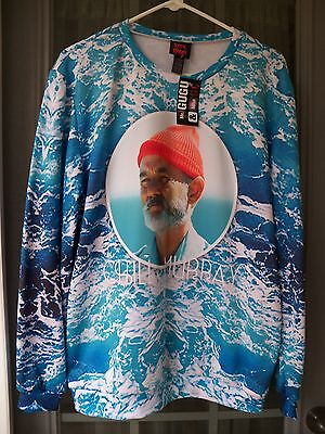 Mr. Gugu & Miss Go The Life Aquatic with Steve Zissou Sweater Size Large NWT