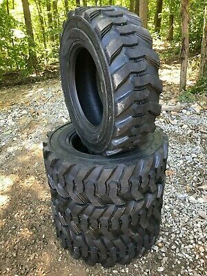4 New 10-16.5 Skid Steer Tires 12 Ply -10x16.5 12 Ply-for Bobcat Others