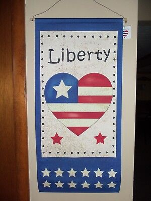 New Patriotic 4th of July Wall Flag Americana Banner Decoration Stars & Stripes