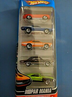 Hot Wheels Mopar Mania 5 Car Pack Charger, Dodge Demon, GTX, BRAND NEW SEALED