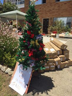 Wanted: 2.1 m new in box Christmas trees with decorations.
