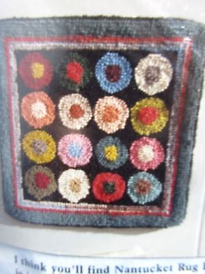 Claire Murray Nantucket Rug Hooking Collection Kit Colorful Circles NEW Sealed