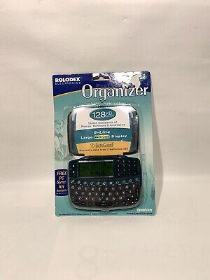 Vtg 90s Franklin Rolodex Rf-128 Executive Electronic Handheld Organizer Backlit
