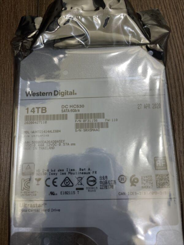 14TB WD HDD WUH721414ALE604 DC HC530 Western Digital Data Center 7200RPM - OEM
