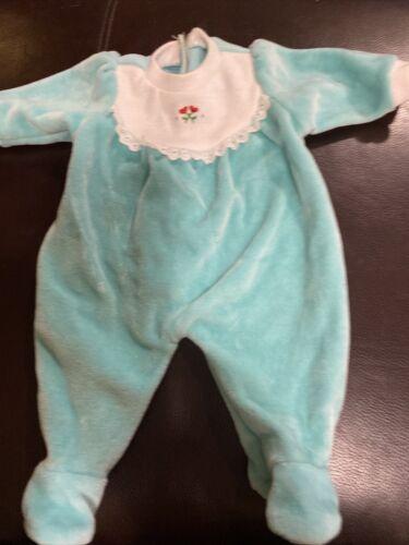 American Girl Bitty Baby Teal Velour Sleeper - $4.25
