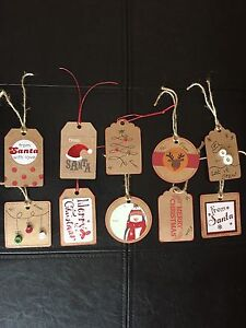 10 handmade Christmas Tags